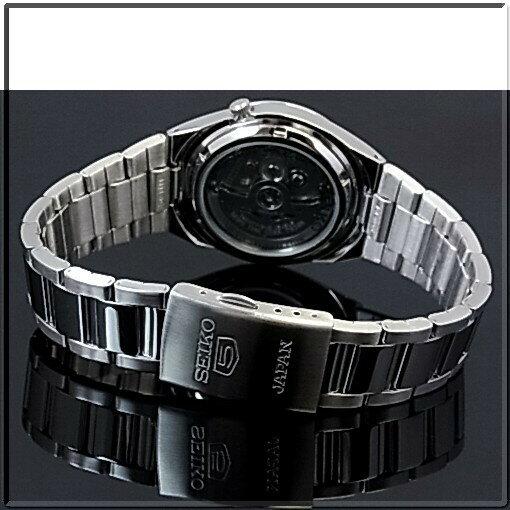 SEIKO/SEIKO5【セイコー5/セイコーファイブ】自動巻 メンズ腕時計 メタルベルト ブラック文字盤 MADE IN JAPAN  セイコーファイブ SNKC55J1  海外モデル【並行輸入品】