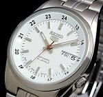 SEIKO/セイコー自動巻メンズ腕時計【SEIKO5/セイコー5】メタルベルトホワイト文字盤JAPANMADEセイコーファイブSNK559J1【楽ギフ_包装選択】【YDKG-k】
