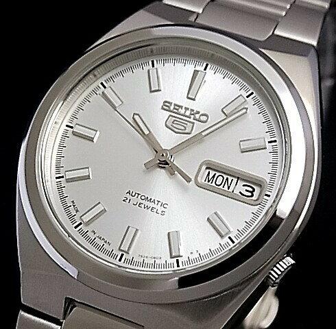 SEIKO/SEIKO5【セイコー5/セイコーファイブ】自動巻 メンズ腕時計 メタルベルト シルバー文字盤 MADE IN JAPAN セイコーファイブ SNKC49J1 海外モデル【並行輸入品】