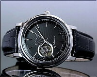 SEIKO/セイコー【PRESAGEメカニカル】自動巻メンズ腕時計ブラック文字盤ブラックレザーベルトSSA017J1MadeinJapan海外モデル【楽ギフ_包装選択】