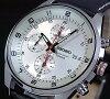 SEIKO/セイコー【クロノグラフ】メンズ腕時計ブラックレザーベルトシルバー文字盤SNDC87P2海外モデル【楽ギフ_包装選択】【YDKG-k】