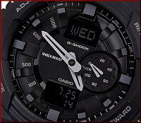 CASIO/G-SHOCK/Baby-G【カシオ/Gショック/ベビーG】ペアウォッチアナデジモデル腕時計ブラック/オレンジ(国内正規品)GA-150-1AJF/BGA-210-4BJF