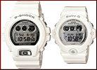 カシオ/G-SHOCK【CASIO/BABY-G】ペアウォッチ腕時計ホワイト/シルバーDW-6900MR-7JF/BG-6900-7JF【国内正規品】【楽ギフ_包装選択】