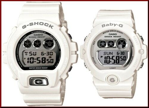 CASIO/G-SHOCK/Baby-Gペアウォッチ 腕時計 ホワイト/シルバー DW-690...