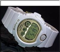 カシオ/Baby-G【CASIO】ベビーGBG-6900シリーズレディース腕時計ホワイト/ゴールドBG-6901-7JF【_包装選択】【国内正規品】