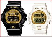 CASIO/G-SHOCK/Baby-G【カシオ/Gショック/ベビーG】ペアウォッチ 腕時計 ブラック/ホワイトXゴールド DW-6900CB-1JF/BG-6901-7JF(国内正規品)