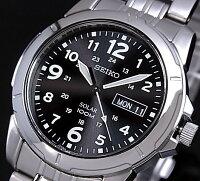 SEIKO/セイコー【ソーラー時計】メンズ腕時計メタルベルトブラック文字盤SNE095P1海外モデル【楽ギフ_包装選択】【YDKG-k】SBPX023