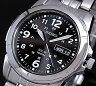 SEIKO/ソーラー時計【セイコー】メンズ腕時計 メタルベルト ブラック文字盤 SNE095P1 海外モデル SBPX023