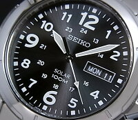 SEIKO/ソーラー時計【セイコー】メンズ腕時計メタルベルトブラック文字盤SNE095P1海外モデル【並行輸入品】SBPX023