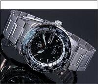 SEIKO/セイコー【SEIKO5/5スポーツ】自動巻メンズ腕時計JAPANMADEメタルベルトブラック文字盤SRP127J1【楽ギフ_包装選択】海外モデル【YDKG-k】SARZ007