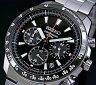 SEIKO/Chronograph【セイコー/クロノグラフ】メンズ腕時計 ブラックベゼル メタルベルト ブラック文字盤 SSB031P1 海外モデル【02P03Dec16】