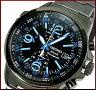 SEIKO/Alarm Chronograph【セイコー/アラームクロノグラフ】メンズ ソーラー腕時計 ブラックメタルベルト ブラック/ブルー文字盤 SSC079P1 海外モデル