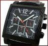 【ZANOBETTI/ザノベッティ 】クロノグラフ メンズ腕時計 ブラック文字盤 ブラックレザーベルト Z401BBKBK