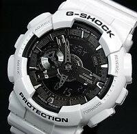CASIO/G-SHOCK/Baby-G【カシオ/Gショック/ベビーG】ペアウォッチアナデジ腕時計ホワイト(海外モデル)GA-110GW-7A/BA-110-7A3