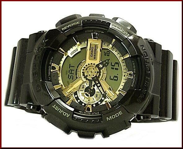 CASIO/G-SHOCK/Baby-G【カシオ/Gショック/ベビーG】ブラウン/ブラックxゴールド ペアウォッチ アナデジ 腕時計 海外モデル【並行輸入品】 GA-110BR-5A/BA-110-1A