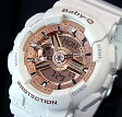 CASIO/Baby-G【カシオ/ベビーG】レディース腕時計 ホワイト/ピンク(国内正規品)BA-110-7A1JF【02P03Dec16】
