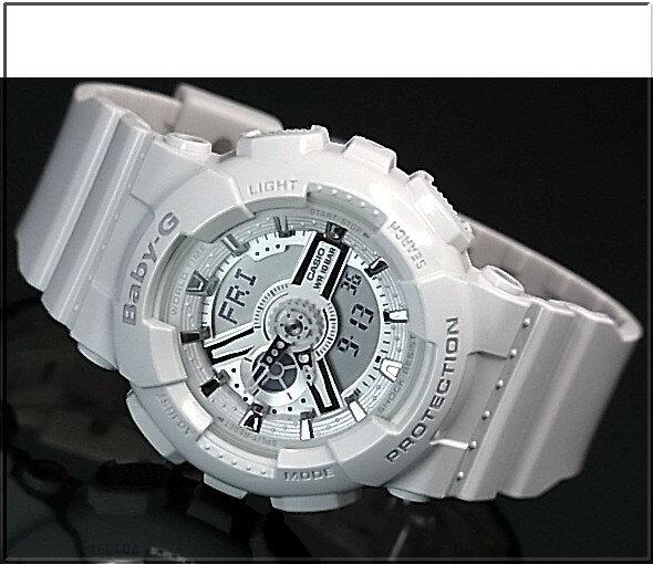 CASIO/G-SHOCK/Baby-G【カシオ/Gショック/ベビーG】ペアウォッチ アナデジ 腕時計 ホワイト(国内正規品)GA-110GW-7AJF/BA-110-7A3JF