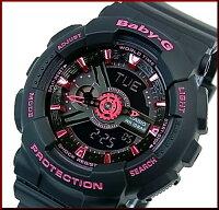 CASIO/G-SHOCK/Baby-G【カシオ/Gショック/ベビーG】ペアウォッチアナデジ腕時計ブラック(国内正規品)GA-110-1BJF/BA-111-1AJF