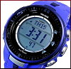 CASIO/PROTREK【カシオ/プロトレック】ソーラー電波腕時計トリプルセンサー搭載ラバーベルトPRW-3000-2B(海外モデル)