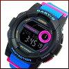 CASIO/BABY-G/G-LIDE【カシオ/ベビーG/Gライド】レディース腕時計ネイビー/ブラック/ピンク(海外モデル)BGD-180-2