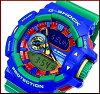 CASIO/G-SHOCK/HyperColors【カシオ/Gショック/ハイパーカラーズ】アナデジメンズ腕時計ブルー/グリーン(海外モデル)GA-400-2A