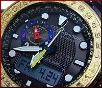 CASIO/G-SHOCK【カシオ/Gショック】GULFMASTER/ガルフマスターメンズソーラー電波腕時計ダークネイビー(国内正規品)GWN-1000F-2AJF【_包装選択】