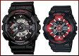 CASIO/G-SHOCK/Baby-G【カシオ/Gショック/ベビーG】ペアウォッチ アナデジ 腕時計 ブラック(海外モデル)GA-110-1A/BA-110SN-1A