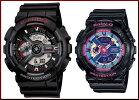 CASIO/G-SHOCK/Baby-G【カシオ/Gショック/ベビーG】ペアウォッチアナデジ腕時計ブラック(海外モデル)GA-110-1A/BA-112-1A