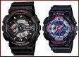 CASIO/G-SHOCK/Baby-G【カシオ/Gショック/ベビーG】ペアウォッチ アナデジ 腕時計 ブラック(海外モデル)GA-110-1A/BA-112-1A