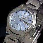 SEIKO/SEIKO5【セイコー5/セイコーファイブ】自動巻レディース腕時計メタルベルトライトブルー文字盤SYMD89K1海外モデル【楽ギフ_包装選択】【YDKG-k】