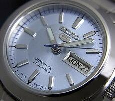 SEIKO/オートマチック【セイコー/自動巻】レディース腕時計【SEIKO5/セイコー5】メタルベルトライトブルー文字盤セイコーファイブSYMD89K1海外モデル【並行輸入品】