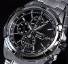 SEIKO/AlarmChronograph【セイコー/アラームクロノグラフ】メンズソーラー腕時計メタルベルトブラック文字盤SSC147P1海外モデル【楽ギフ_包装選択】