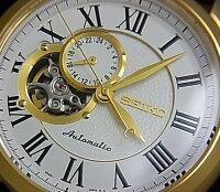 SEIKO/Automatic【セイコー/オートマチック】自動巻メンズ腕時計ゴールドケースホワイト文字盤ブラウンレザーベルトSSA232K1海外モデル【楽ギフ_包装選択】