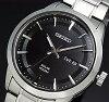 SEIKO/ソーラー時計【セイコー】メンズ腕時計メタルベルトブラック文字盤SNE363P1海外モデル【楽ギフ_包装選択】