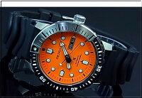 SEIKO/PROSPEX200mdiver'swatch【セイコー/プロスペックス200m防水ダイバーズ】自動巻メンズ腕時計ブラックラバーベルトオレンジ文字盤海外モデルSRP589K1【楽ギフ_包装選択】