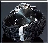 SEIKO/PROSPEX【セイコー/プロスペックス】メンズアラームクロノグラフソーラー腕時計ブラック文字盤ブラックキャンバスベルト(海外モデル)SSC293P2【_包装選択】