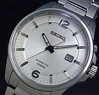 SEIKO/KINETIC【セイコー/キネテック】メンズ腕時計シルバー文字盤メタルベルトSKA663P1【_包装選択】(海外モデル)