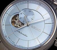 SEIKO/Presageメカニカル【セイコー/プレサージュ】自動巻メンズ腕時計ライトブルー文字盤メタルベルトSSA137J1MadeinJapan海外モデル