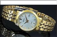 SEIKO/Quartz【セイコー/クォーツ】レディース腕時計ゴールドメタルベルトシルバー文字盤SUR824P1海外モデル【02P04Jul15】