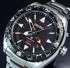 SEIKO/PROSPEX【セイコー/プロスペックス】キネテックGMTメンズ腕時計ブラック文字盤メタルベルトSUN049P1(海外モデル)