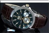 SEIKO/Premier【セイコー/プルミエ】キネテックパーペチュアルカレンダーノバク・ジョコビッチ特別モデルメンズ腕時計ブラウンレザーベルトグリーン/ゴールド文字盤SNP127P1(海外モデル)