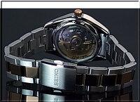SEIKO/Presageメカニカル【セイコー/プレサージュ】ペアウォッチ自動巻腕時計ピンクゴールドベゼルシルバー文字盤コンビメタルベルトSSA260J1/SSA866J1MadeinJapan海外モデル