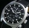SEIKO/Chronograph【セイコー/クロノグラフ】メンズ腕時計 ブラックレザーベルト ブラック文字盤 SNN231P2 海外モデル