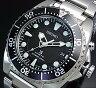 SEIKO/PROSPEX/KINETIC【セイコー/プロスペックス/キネテック】ダイバーズ メンズ腕時計 ブラック文字盤 メタルベルト SKA371P1 (海外モデル)