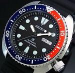 SEIKO/PROSPEX/200mdiver'swatch【セイコー/プロスペックス/200m防水ダイバーズ】自動巻ネイビー/レッドベゼルメンズ腕時計ラバーベルトブラック文字盤海外モデルSRP779K1