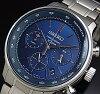 SEIKO/Chronograph【セイコー/クロノグラフ】メンズ腕時計メタルベルトネイビー文字盤SSB163P1海外モデル