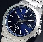 SEIKO/KINETIC【セイコー/キネテック】メンズ腕時計ネイビー文字盤メタルベルトSKA695P1(海外モデル)