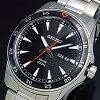 SEIKO/ソーラー時計【セイコー】メンズ腕時計メタルベルトブラック文字盤SNE393P1海外モデル