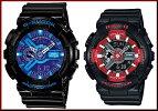 CASIO/G-SHOCK/Baby-G【カシオ/Gショック/ベビーG】ペアウォッチアナデジ腕時計ブラック(海外モデル)GA-110HC-1A/BA-110SN-1A