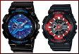 CASIO/G-SHOCK/Baby-G【カシオ/Gショック/ベビーG】ペアウォッチ アナデジ 腕時計 ブラック(海外モデル)GA-110HC-1A/BA-110SN-1A
